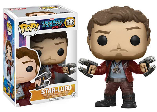 Funko Guardians of the Galaxy Vol. 2 POP! Marvel Star-Lord Vinyl Bobble Head #198 [Mask Off, Regular Version]