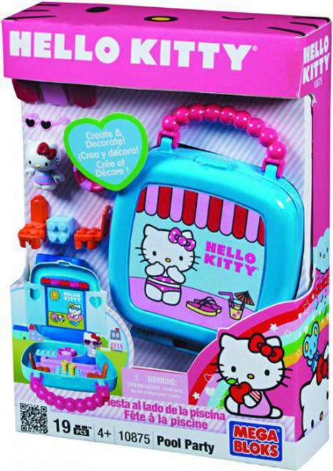 Mega Bloks Hello Kitty Pool Party Set #10875 [Damaged Package]