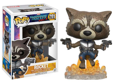 Funko Guardians of the Galaxy Vol. 2 POP! Marvel Rocket Vinyl Bobble Head #201