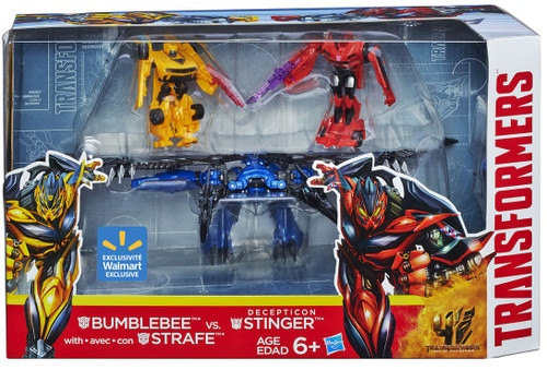 Transformers Age of Extinction Bumblebee & Strafe Vs Decepticon Stinger Exclusive Action Figure 3-Pack [Damaged Package]
