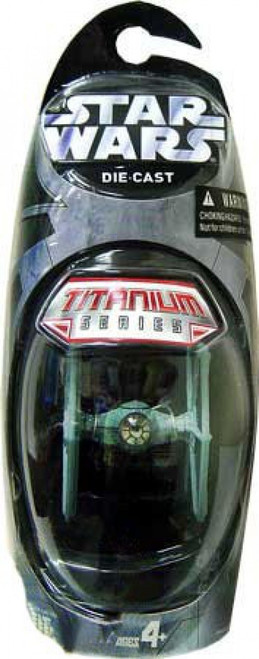 Star Wars A New Hope Titanium Series 2006 TIE Fighter Diecast Vehicle [Blue, Damaged Package]