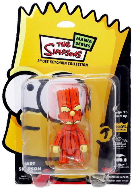 The Simpsons Qee Collection Bart Simpson 3-Inch Figure Keychain [Dark Orange Pumpkin]