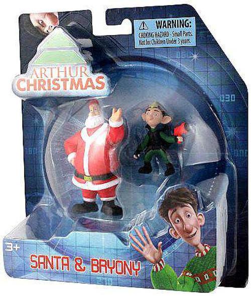 Arthur Christmas Santa & Bryony Mini Figure 2-Pack [Damaged Package]