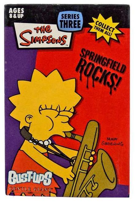 The Simpsons Springfield Rocks! Bust Ups Series 3 Lisa & Bleeding Gums Murphy Figure