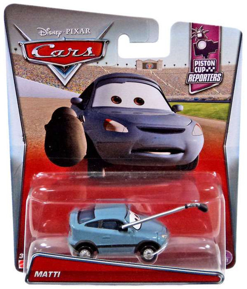 Disney / Pixar Cars Piston Cup Reporters Matti Diecast Car #7/10