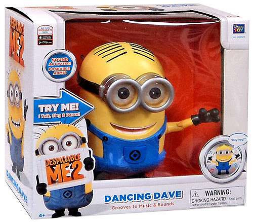 Despicable Me 2 Singing Dancing Dave Action Figure [Damaged Package]