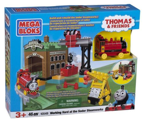 Mega Bloks Thomas & Friends Working Hard at the Sodor Steamworks Set #10549