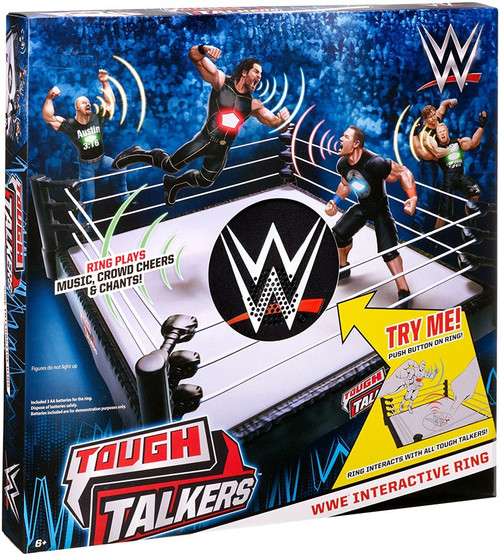 WWE Wrestling Tough Talkers Interactive Ring 6-Inch Playset