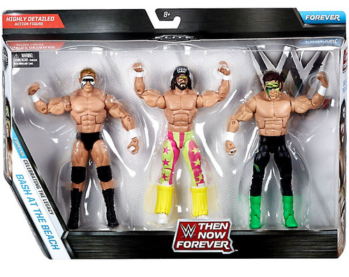 WWE Wrestling Then Now Forever Randy Savage, Sting & Lex Luger Exclusive Action Figure 3-Pack [Bash at the Beach]