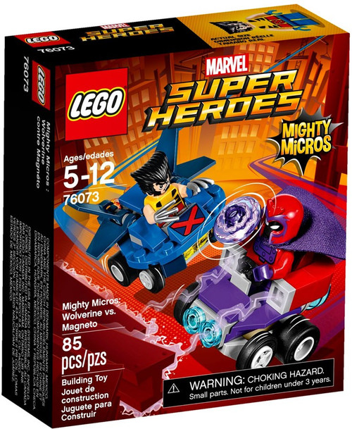 LEGO Marvel Super Heroes Mighty Micros Wolverine vs Magneto Set #76073