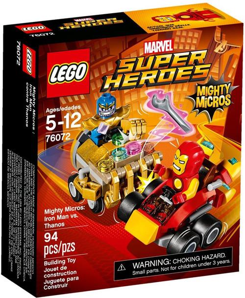 LEGO Marvel Super Heroes Mighty Micros Iron Man vs. Thanos Set #76072
