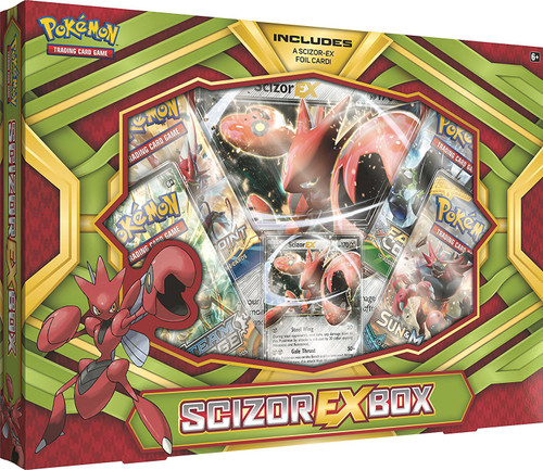 Pokemon Trading Card Game Scizor EX Box [4 Booster Packs, Promo Card & Oversize Card]