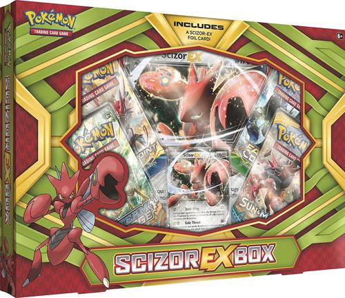 Pokemon Trading Card Game Scizor EX Box [4 Booster Packs, Promo Card & Oversize Card!]