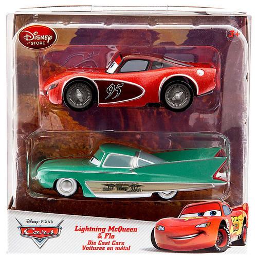 Disney / Pixar Cars Lightning McQueen & Flo Exclusive Diecast Car 2-Pack