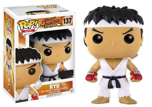 Funko Street Fighter POP! Games Ryu Exclusive Vinyl Figure #137 [White Headband]