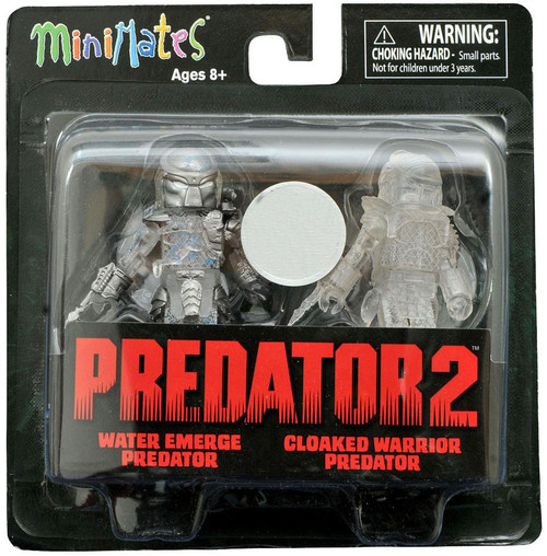 Predator 2 Minimates Series 3 Water Emerge Predator & Cloaked Warrior Predator 2-Inch Minifigure 2-Pack