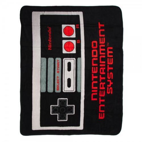 Nintendo Controller Fleece Throw Apparel