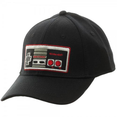 Nintendo Controller Black Flex Cap Apparel
