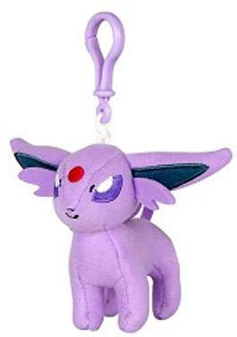 Pokemon Espeon 3-Inch Plush Hanger Clip On