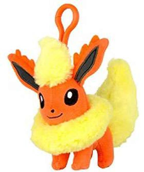 Pokemon Flareon 3-Inch Plush Hanger Clip On