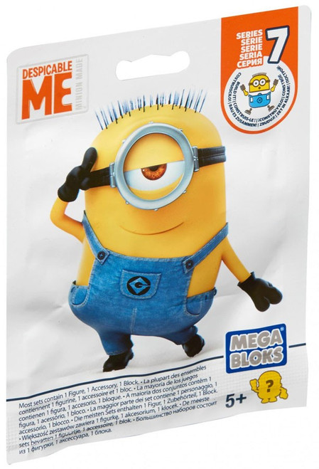 Mega Bloks Despicable Me Minion Made Series 7 Mystery Pack [1 RANDOM Figure]