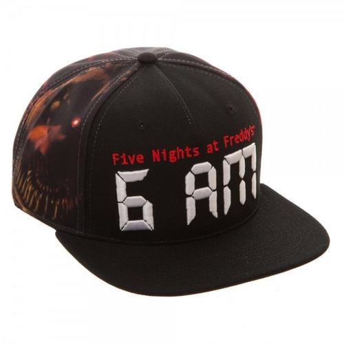 Five Nights at Freddy's 6AM Snapback Cap Apparel