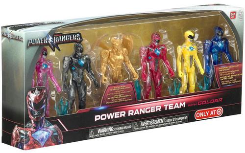 Power Rangers Movie Power Ranger Team Action Figure 6-Pack [with Goldar]