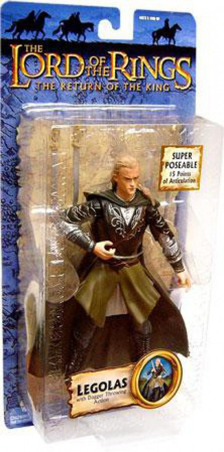 The Lord of the Rings The Return of the King Collectors Series Legolas Greenleaf Action Figure [Dagger Throwing]