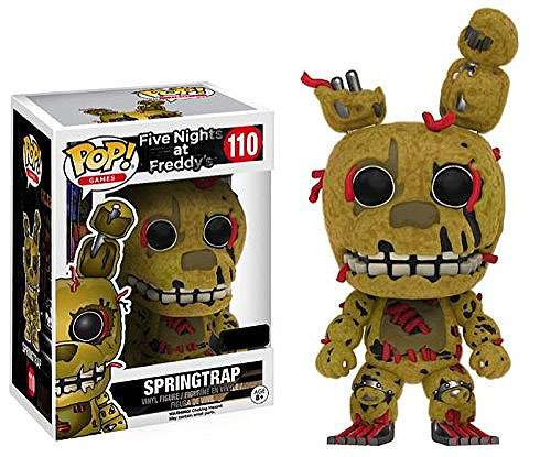 Funko Five Nights at Freddy's POP! Games Springtrap Vinyl Figure #110 [Flocked]