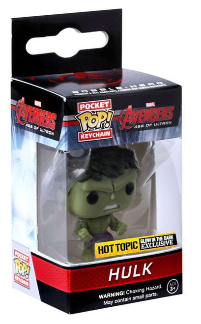 Funko Avengers Age of Ultron POP! Marvel Hulk Exclusive Keychain [Glow-in-the-Dark, Damaged Package]