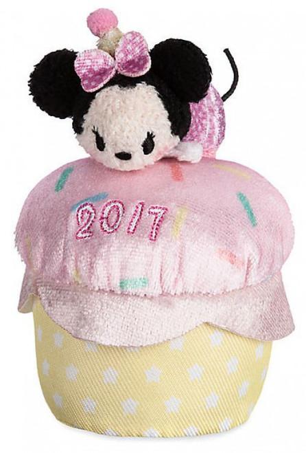 Disney Tsum Tsum 2017 Minnie Mouse Exclusive 3.5-Inch Mini Plush [Birthday Cupcake]