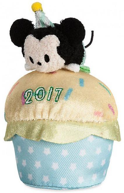 Disney Tsum Tsum 2017 Mickey Mouse Exclusive 3.5-Inch Mini Plush [Birthday Cupcake]