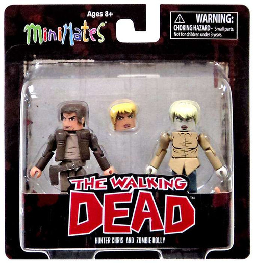 The Walking Dead Comic Minimates Series 7 Hunter Chris & Zombie Holly Minifigure 2-Pack [Loose]