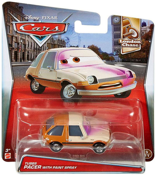 Disney / Pixar Cars London Chase Tubbs Pacer with Paint Spray Diecast Car #5/11