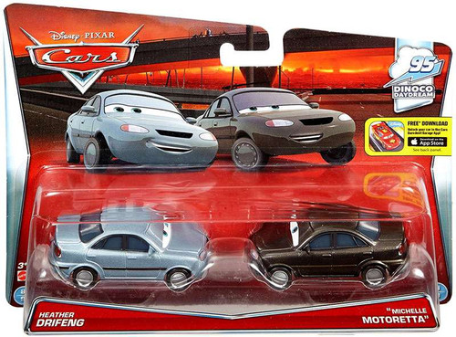 "Disney / Pixar Cars Dinoco Daydream Heather Drifeng & ""Michelle Motoretta"" Diecast Car 2-Pack #8/9 & 9/9"