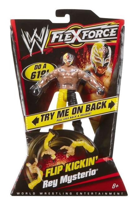 WWE Wrestling FlexForce Series 1 Rey Mysterio Action Figure [Flip Kickin' ]