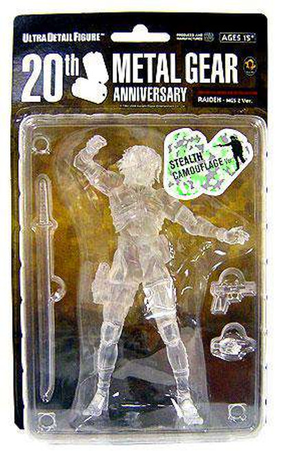 Metal Gear Solid 2 Sons of Liberty 20th Anniversary Raiden Exclusive Action Figure [Stealth Camouflage Variant, Damaged Package]