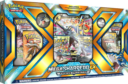 Pokemon Trading Card Game Mega Sharpedo-EX Premium Collection [6 Booster Packs, 3 Promo Cards, Pin & Coin]