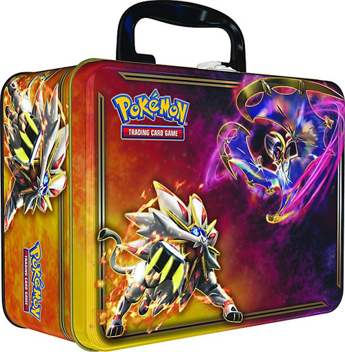 Pokemon Trading Card Game 2017 Collector's Chest Solgaleo & Lunala Tin Set [5 Booster Packs, 3 Promo Cards, Mini Portfolio, Coin & More]