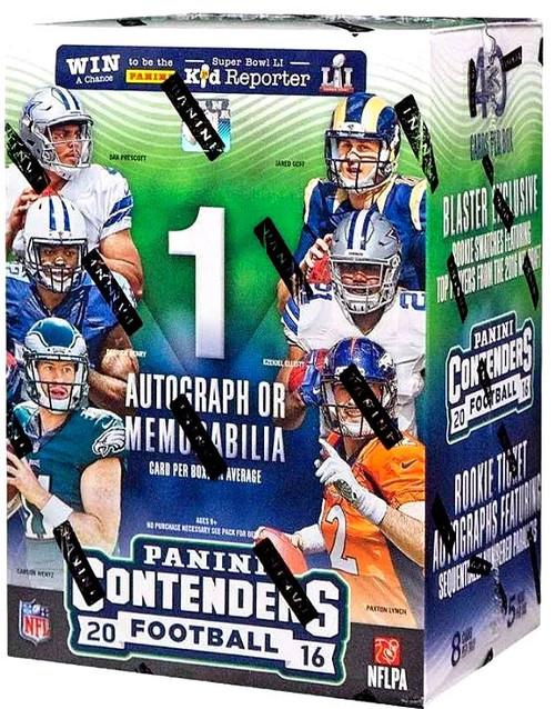 NFL 2016 Panini Contenders Trading Card BLASTER Box [5 Packs, 1 Autograph OR Memorabilia Card]
