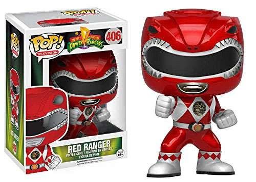 Funko Power Rangers Mighty Morphin The Movie POP! TV Red Ranger Exclusive Vinyl Figure #406 [Metallic]