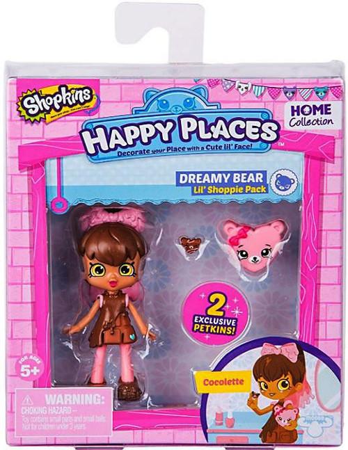 Shopkins Happy Places Series 2 Cocolette Lil' Shoppie Pack #324 & 323 [Dreamy Bear]
