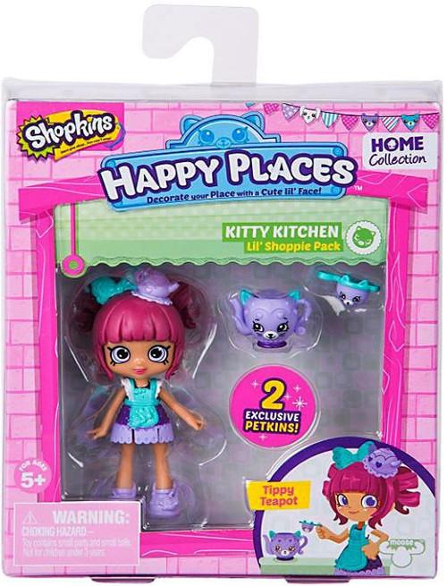 Shopkins Happy Places Series 2 Tippy Teapot Lil' Shoppie Pack #302 & 301 [Kitty Kitchen]