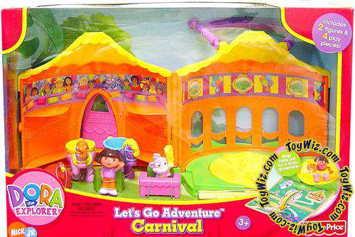 Fisher Price Dora the Explorer Let's Go Adventure Carnival Playset [Damaged Package]