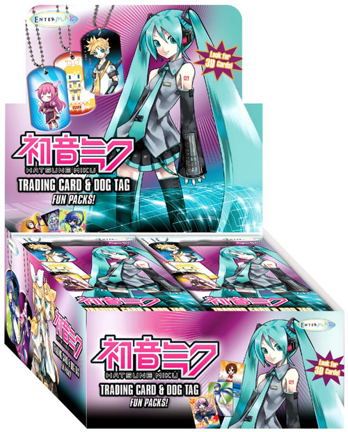 Hatsune Miku Trading Card & Dog Tag Box