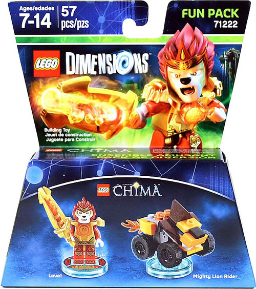 LEGO Dimensions Chima Laval & Mighty Lion Rider Fun Pack #71222