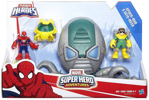 Marvel Playskool Heroes Super Hero Adventures Spider-Man & Octo-Mech Action Figure Set