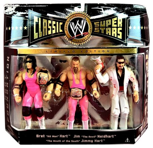 WWE Wrestling Classic Superstars Series 4 Hart Foundation Action Figure 3-Pack