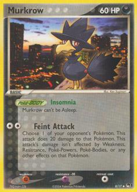 Pokemon Trading Card Game Organized Play Series 1 Uncommon Murkrow #8