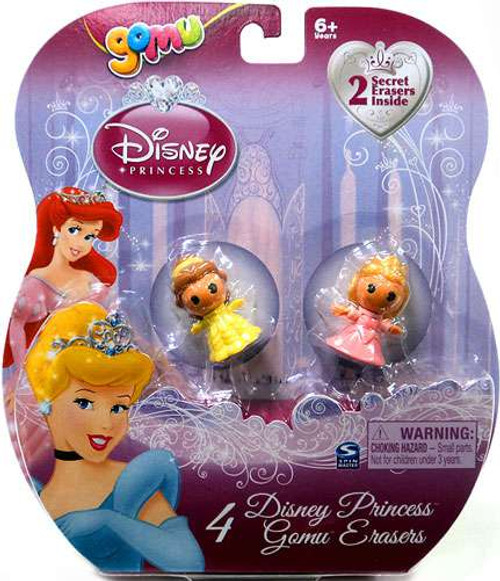 Disney Princess Gomu Belle & Aurora Eraser 4-Pack [2 Secret Erasers]